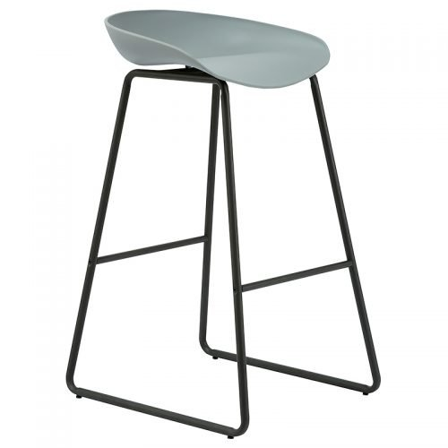 Chloe Bar Stool, Grey Seat