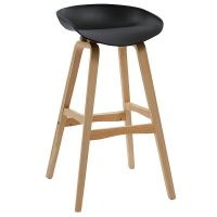 Hanna Bar Stool, Black Seat