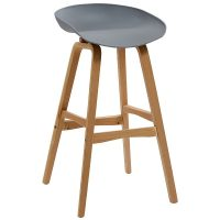 Hanna Bar Stool, Grey Seat
