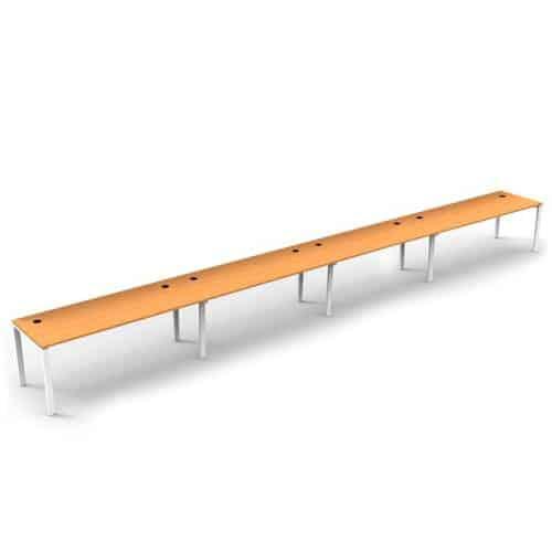 Integral 4 Inline Desks, Beech top