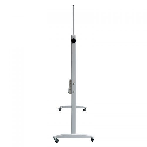 Standard Mobile Pivoting Magnetic White Board, End View