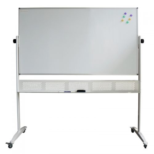 Porcelain Mobile Pivoting Magnetic White Board