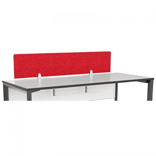 Utility Desk Top Fix Screen Divider, Red Colour