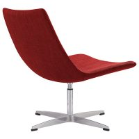 Brenta Chair, Red Fabric - Rear View