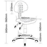 Lis Industrial Chair, Dimensions