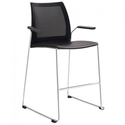 Neo Mesh Back Bar Stool with Arms