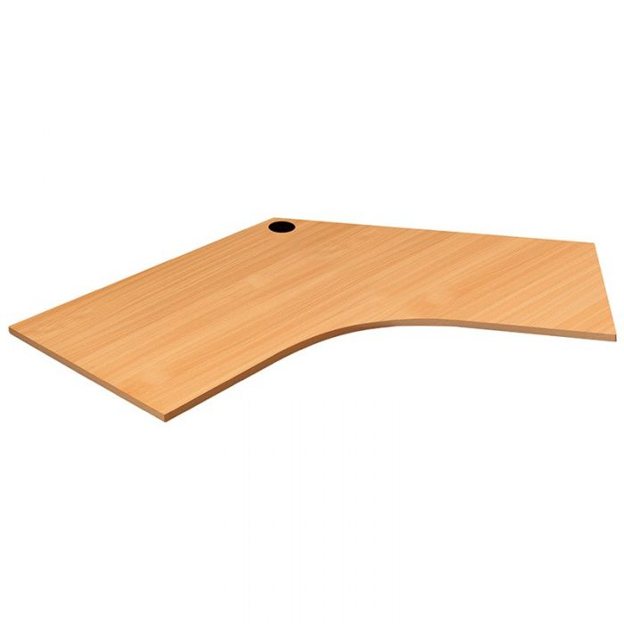 Space System 120 Degree Desk Top, Beech Colour