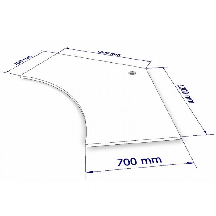 Space System 120 Degree Desk Top Dimensions