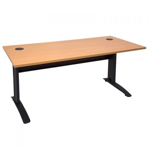 Space System Desk, Beech Top, Black Base