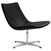 Brenta Chair, Charcoal Fabric