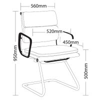 Elite Visitor Chair, Dimensions