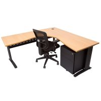 Laura Chair, Space System Corner Workstation and Super Strong Metal Mobile Drawer Unit Package