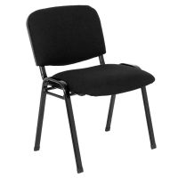 Macleay Visitor Chair, Black Fabric, Angle View