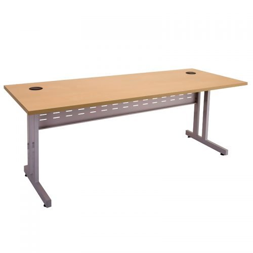 Space System Eco Desk, Beech Desk Top