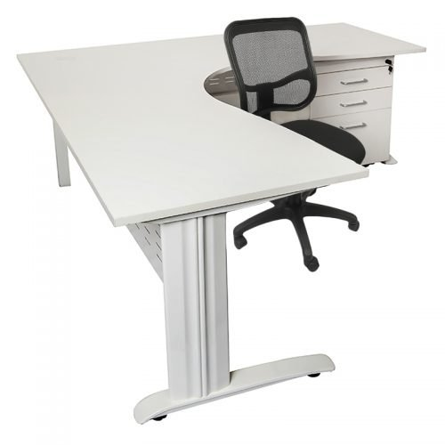 Stradbroke Mesh Back Chair, Space System Corner Workstation and Space System Mobile Drawer Unit Package