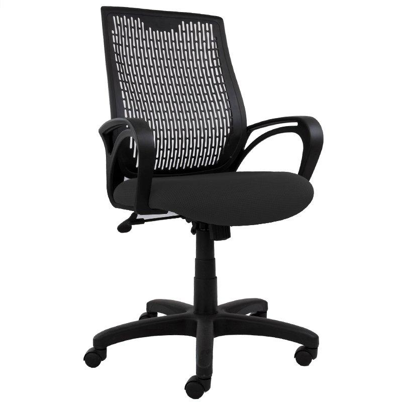 Carla Chair, Black Fabric Seat