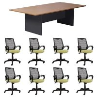 Function Meeting Table and 8 Carla Chair Package