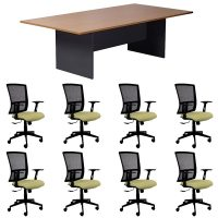 Function Meeting Table and 8 Linea Chairs Package