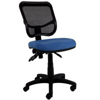 Stradbroke High Mesh Back Task Chair, Blue Seat Fabric