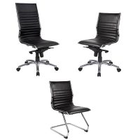 Aria Chair Range, Black Leather