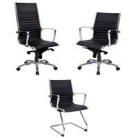Atlantic Chair Range, Black Leather