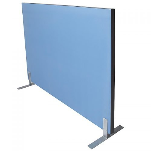 Fast Portable Acoustic Screen Divider, Blue Fabric