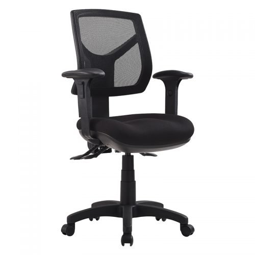 Flo Medium Back Chair, with Arms