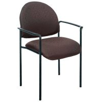 Lincoln Chair, with Arms, Black Fabric