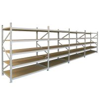 Long Span Extra Heavy Duty Shelving, Four Bay