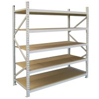 Long Span Extra Heavy Duty Shelving, Single Bay