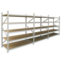 Long Span Extra Heavy Duty Shelving, Three Bay