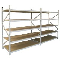 Long Span Extra Heavy Duty Shelving, Two Bay