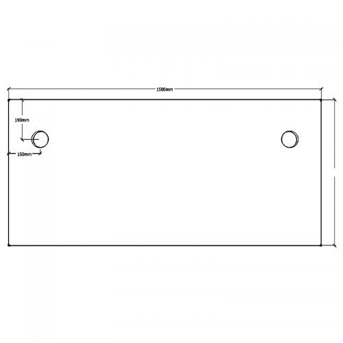 Straight Desk Top, Dimensions - 1500mm x 750mm