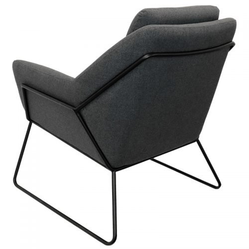 Arrow Chair, Charcoal, Rear View