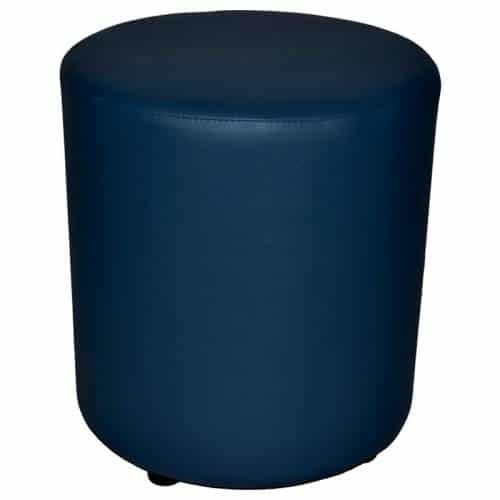 Blue round ottoman