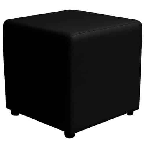 Black square ottoman