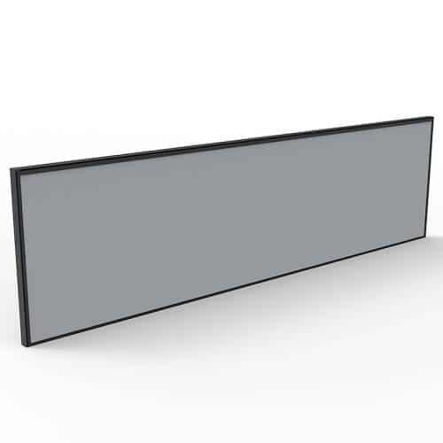 Integral Express Desk Mounted Screen Divider, Grey Fabric, Black Frame