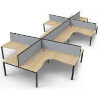corner desk pod