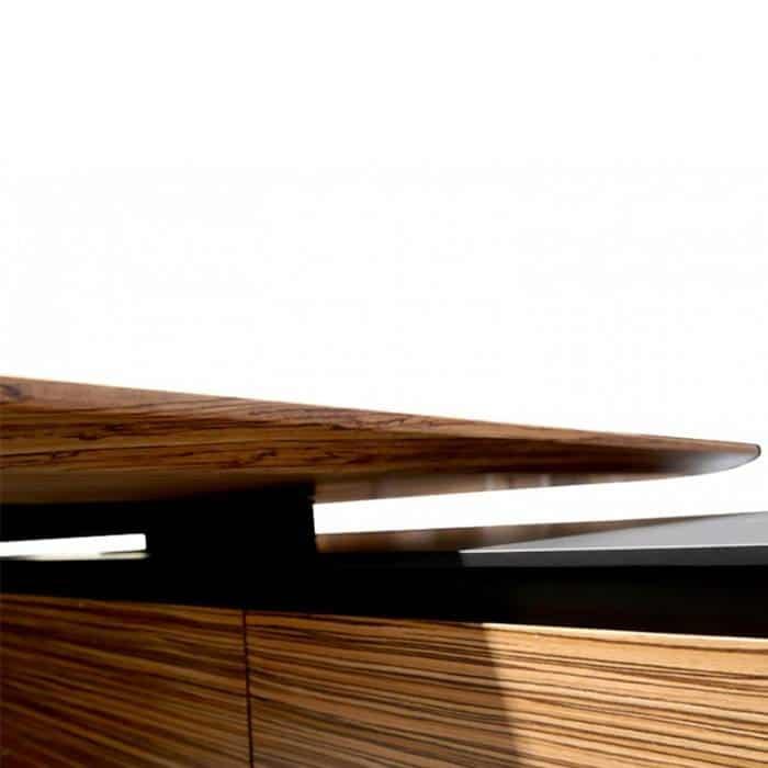 Milana Desk Top Shark Nose Edge Detail