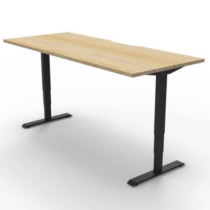 black sit stand desk