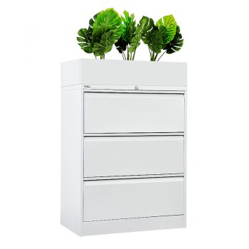 Planter Box on 3 Drawer Lateral Unit