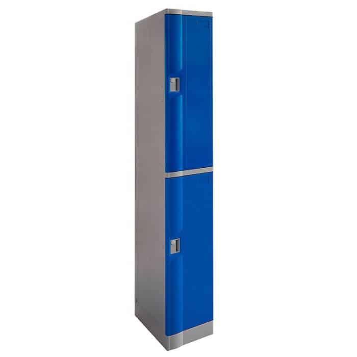 Smart ABS Plastic 2 Door Locker, Blue Doors