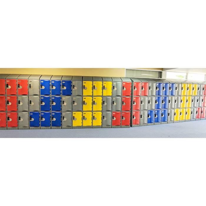 Smart Heavy Duty Plastic Lockers Example 1
