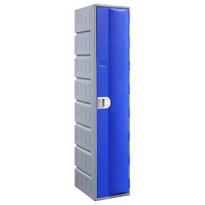 Smart Heavy Duty Plastic Single Door Locker, Blue Door