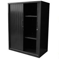 Black tambour cupboard