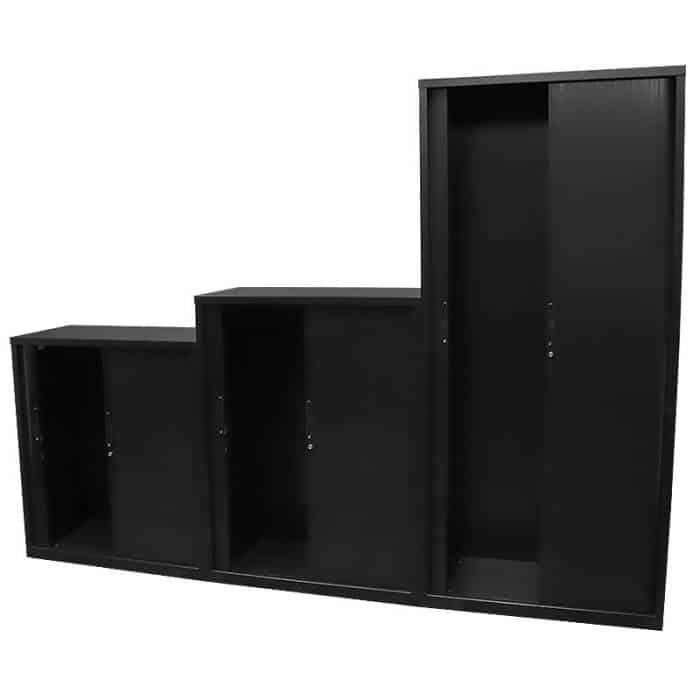 Super Strong Tambour Door Cabinets, Open