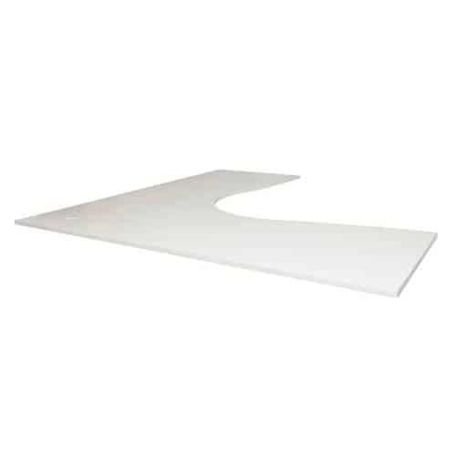 Natural White Corner Desk Top
