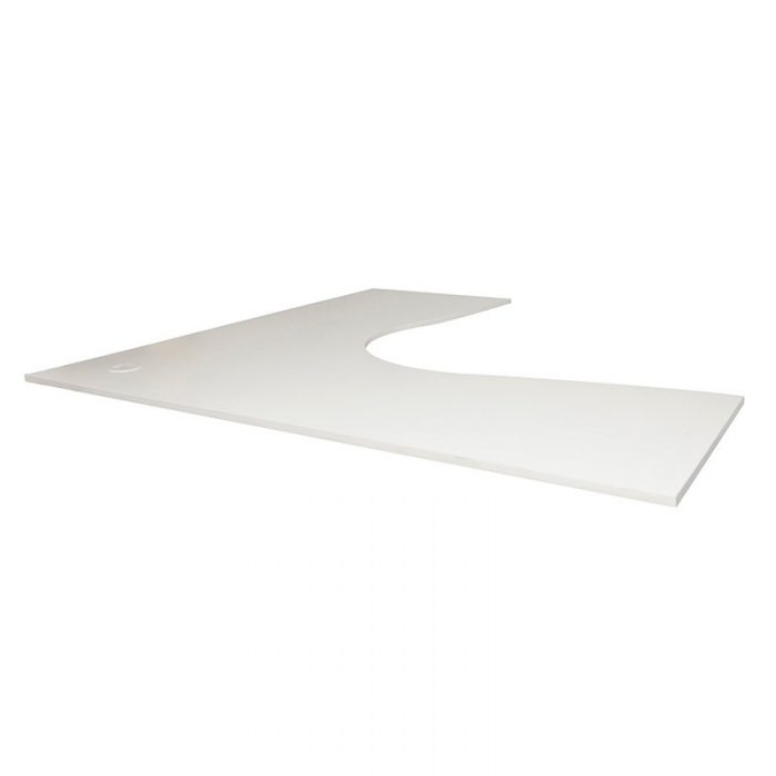 Natural White Corner Desk Top