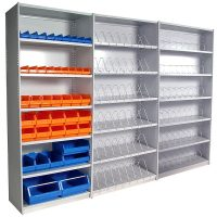 Adaptable Metal Shelving, Stand Alone Unit, with 2 Add-On Units