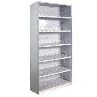 Adaptable Metal Shelving, Stand Alone Unit, with 'Toast Rack' Shelf Dividers
